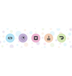 5 over icons vector