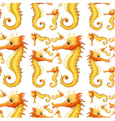 a seahorse seamless background vector image