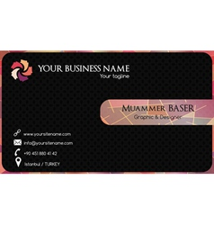 Abstract colorful business card vector image