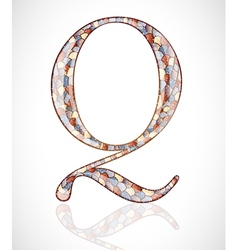 Abstract letter Q vector image