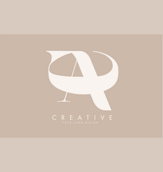 ac a c letters logo design long tail and hugging vector image