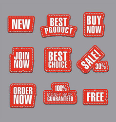 advertising stickers and stripes vector image
