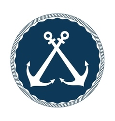 Anchor symbol isolated icon vector