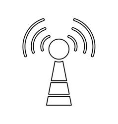 Antenna communication technology vector
