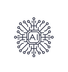 Artificial intelligence ai icon vector