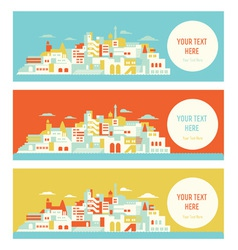 Asian sunny city vector image