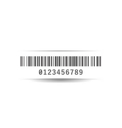 bar code icon simple flat style vector image