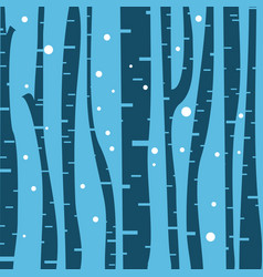 birch tree background vector image