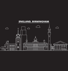 birmingham silhouette skyline great britain vector image