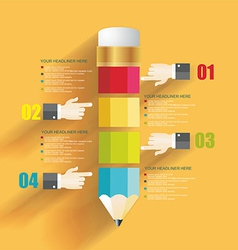 Business Design Template with Pencil and mans vector