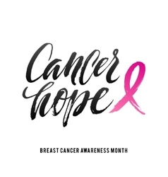 Cancer hope breast awareness vector