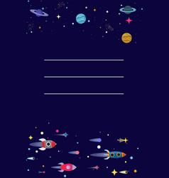 cartoon sci-fi space background vector image
