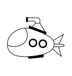 cartoon submarine icon image vector image
