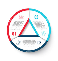 Circle infographic with 3 options vector