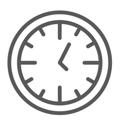 clock line icon time and dial watch sign vector image