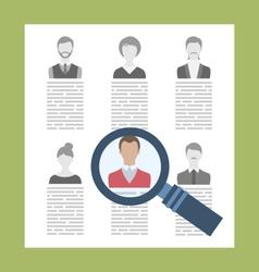 Concept recruitment specialists vector
