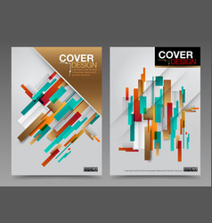 cover design abstract number one master vector image