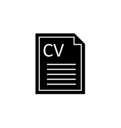 curriculum vitae cv icon signs and symbols can be vector image