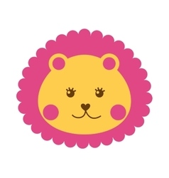 Cute lion isolated icon vector