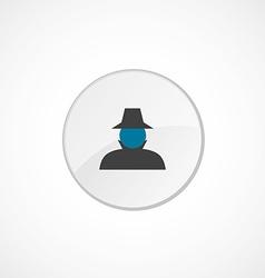 Detective icon 2 colored vector