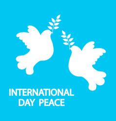 dove with a tree branch for international peace vector image