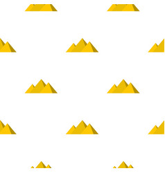 Egyptian giza pyramids pattern seamless vector