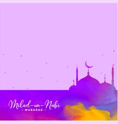 Eid milad un nabi barawafat holiday background vector