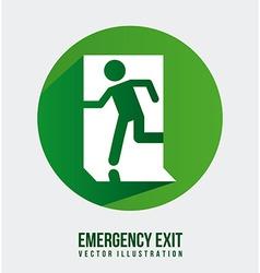 Emergency exit design vector