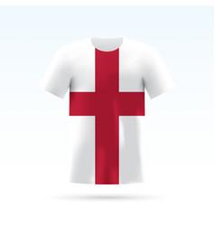 england flag t-shirt vector image