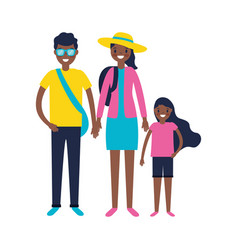 Family vacations travel vector