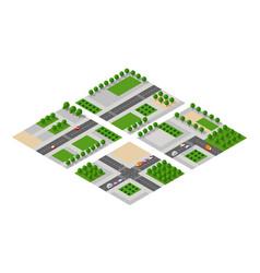 Farm set of houses vector