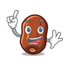 Finger dates fruit mascot cartoon vector