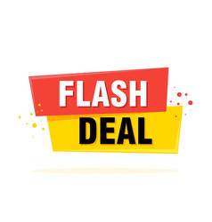 flash sale tag banner design template app icon vector image