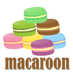 Font design with word macaroon vector