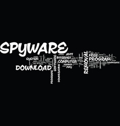 free spyware removal downloads text background vector image