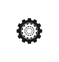 gear logo designs inspiration isolated on white vector image