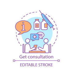 Get consultation concept icon vector