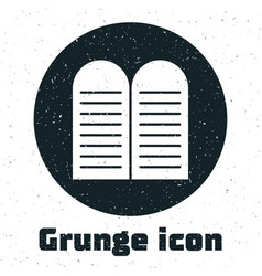 Grunge commandments icon isolated on white vector
