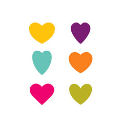 Hearts temp color set vector
