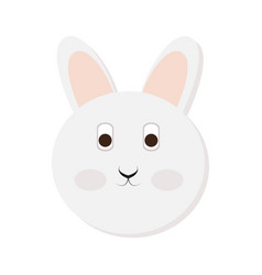 isolated rabbit face vector image