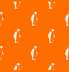 King penguin pattern seamless vector