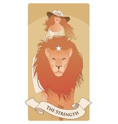 Major arcana tarot cards the strength beautiful vector