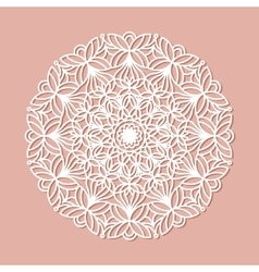 Mandala lace ornament vector