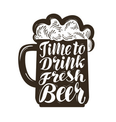 mug of ale symbol time to drink fresh beer vector image