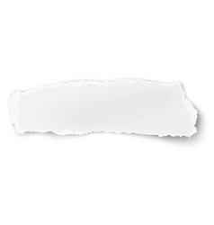 Oblong ragged paper scrap isolated on white vector