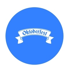 Oktoberfest banner icon in black style isolated on vector image