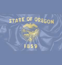 Oregon state silk flag vector