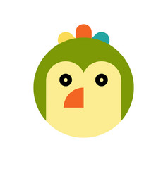 parrot cartoon animal head vector image