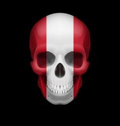 Peruvian flag skull vector