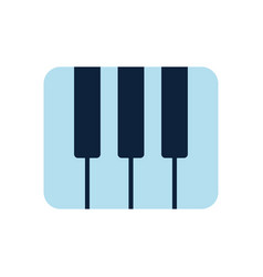 Piano keys flat logo piano play emblem piano vector